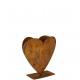 Metal planting Heart 30cm, on metal base plate